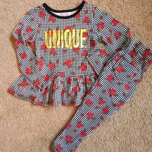 Girls Matching Houndstooth Set
